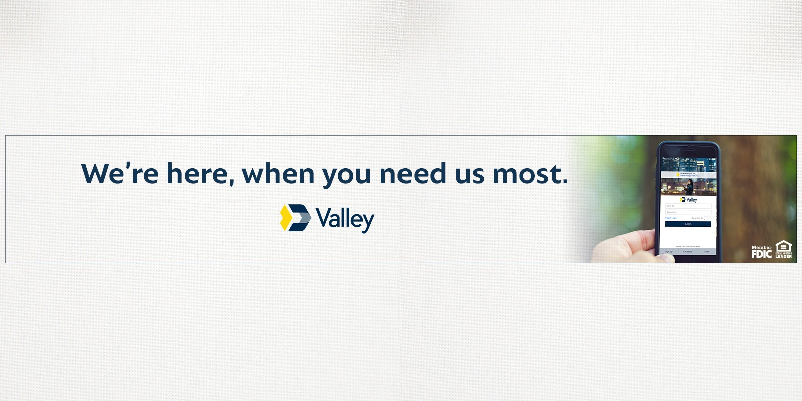 Valley National Bancorp Banner Image
