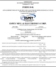 Espey Manufacturing & Electronics Corp.