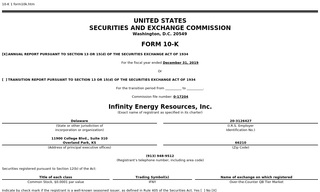 Infinity Energy Resources, Inc.