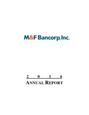 M&F Bancorp, Inc.