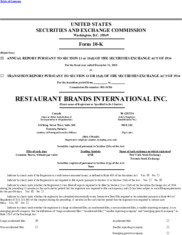 Restaurant Brands International