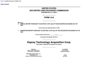 Osprey Technology Acquisition Corp.
