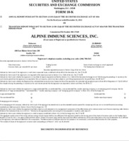 Alpine Immune Sciences, Inc.