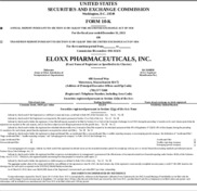 Eloxx Pharmaceuticals, Inc.