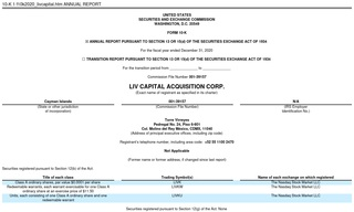 LIV Capital Acquisition Corp.