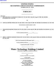 Pintec Technology Holdings Limited