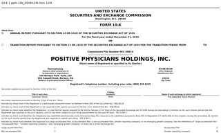 Positive Physicians Holdings, Inc.
