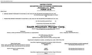 South Mountain Merger Corp.