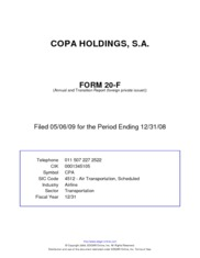 Copa Holdings Inc.