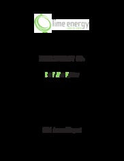 Lime Energy Co.