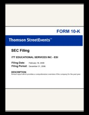 ITT Educational Services Inc.
