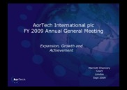AorTech International plc