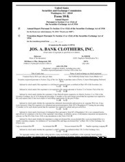 Jos. A Bank Clothiers Inc.