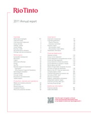 rin tinto group annual report The advisory group report identifies a number of ways to increase trade and  it included ceos from major companies such as rio tinto,  ms jenny da rin,.