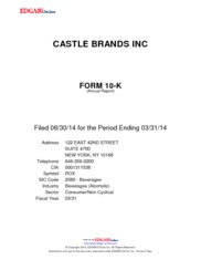 Castle Brands Inc.