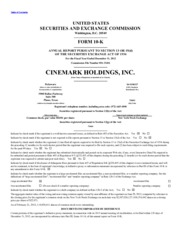 Cinemark Holdings