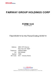 Fairway Group Holdings Corp