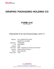Graphic Packaging Holding Company