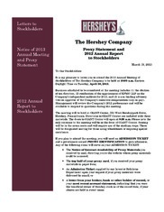 Hershey annual report