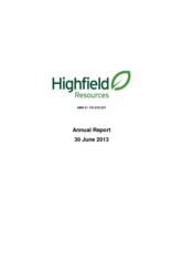 Highfield Resources Ltd