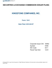 Kingstone Companies