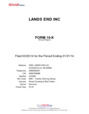 Lands' End, Inc.