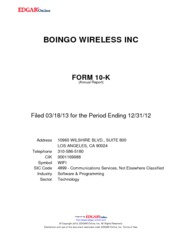 Boingo Wireless Inc