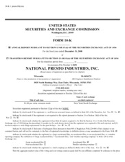 National Presto Industries Inc.