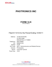 Photronics Inc.