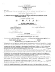 Stratus Properties Inc.