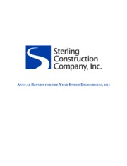 Sterling Construction Co. Inc.