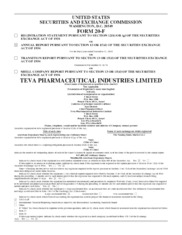 Teva Pharmaceutical Industries Limited