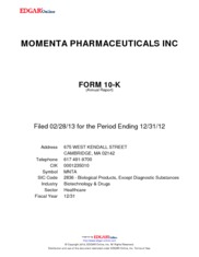 Momenta Pharmaceuticals Inc.