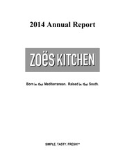 Zoes Kitchen Annualreports Com