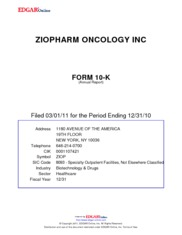 ZIOPHARM Oncology, Inc