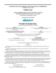 Verint Systems Inc