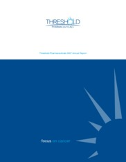 Threshold Pharmaceuticals Inc.