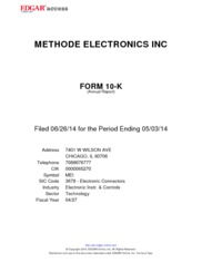 Methode Electronics Inc.