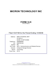 Micron Technology Inc.