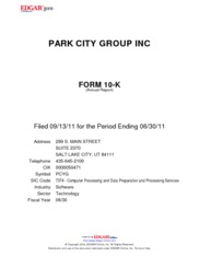 Park City Group, Inc.