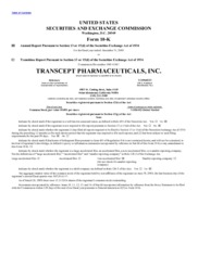 Paratek Pharmaceuticals Inc