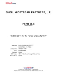 Shell Midstream Partners LP