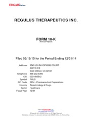 Regulus Therapeutics