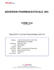 Aegerion Pharmaceuticals, Inc.