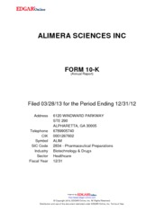 Alimera Sciences, Inc.