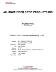 Alliance Fiber Optic Products Inc.