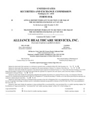 Alliance Healthcare Services, Inc.