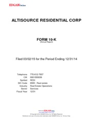 Altisource Residential Corp