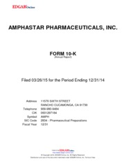Amphastar Pharmaceuticals Inc