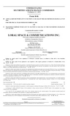 Loral Space & Communications, Inc.